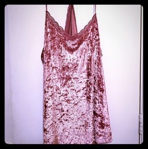 Tops - Rose velvet Cami, Plus size